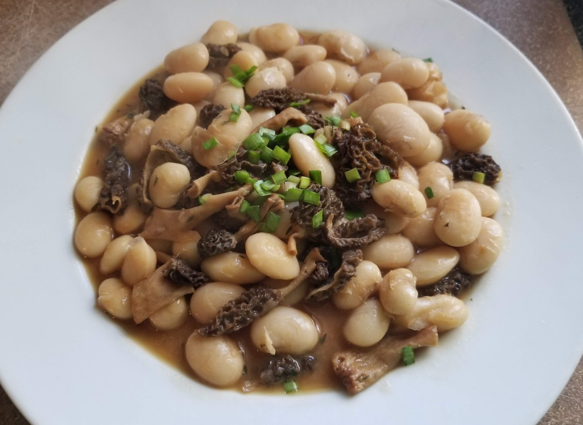 Morels and Giant White Beans